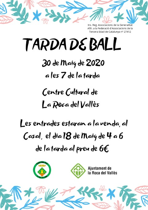ACTIVITAT CANCEL·LADA: Tarda de ball